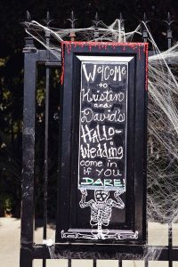 cute spooky sign