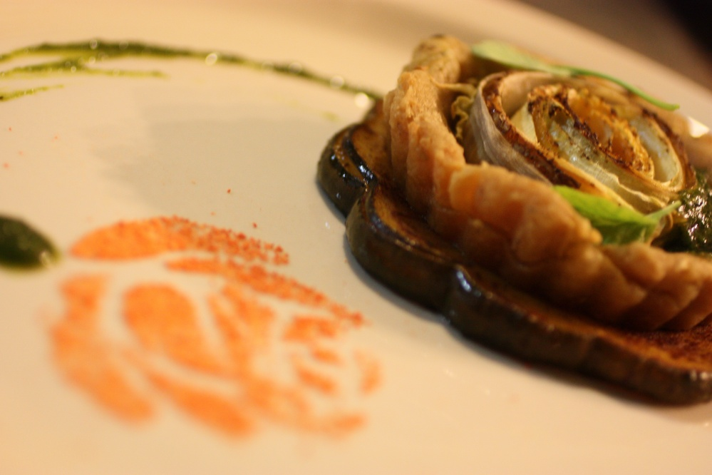 Vegetable Rose Tartlet with Stencil