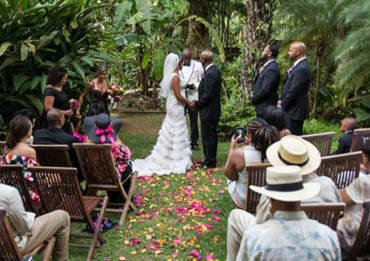Tropical location for a beautiful couple to marry in the USVI.