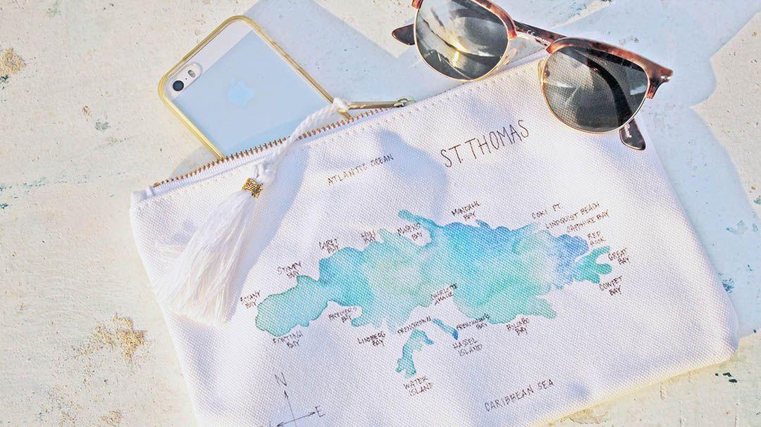 Watercolor Island Bag