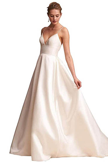 The perfect look for a wedding dress.